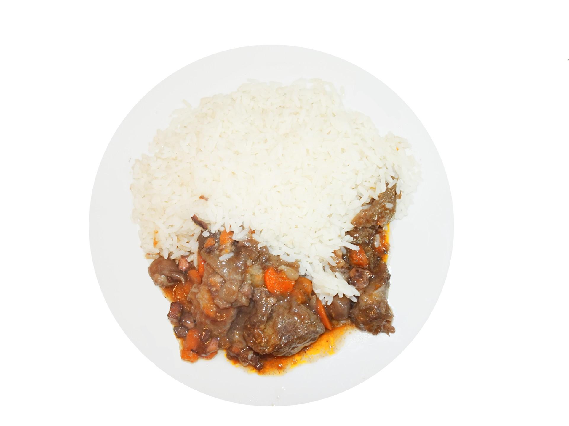 Boeuf bourguignon riz